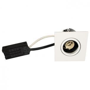 lyskilde ex - hvid mat gu10 88x88mm firkantet qi luna - products scan