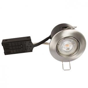 alu børstet dæmpbar ø88mm lumen 425 3000k 5w flimmerfri alda products scan