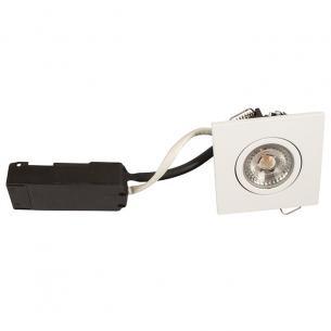 hvid mat - dæmpbar ra95 lumen 350 2700k 2w 6 led flimmerfri 88x88mm lp luna - products scan