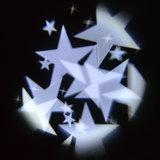 3x1w 5x5m stjerner hvide med juleprojektør led