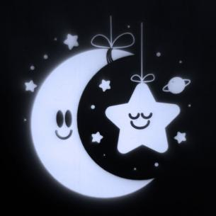 1w ø2m stjerne måne projektør jule led