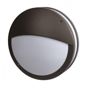 antracitgrå - væglampe ip54 2xe27 230v halvafskærmning med martina - 13029 products scan
