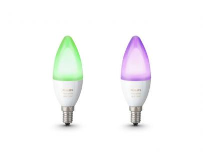 2-pak pære n ambiance color and white - e14 b39 5w 6 kerte hue philips