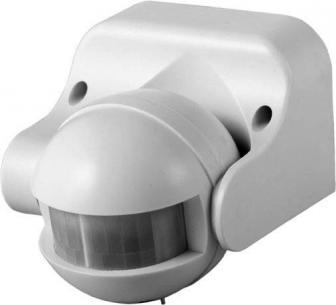 bevægelsessensor - hvid ip44 mtr 12 230v 180gr sensor pir