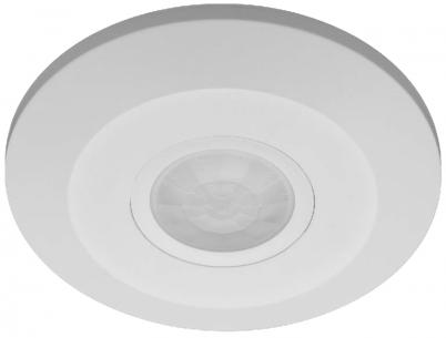 bevægelssensor - hvid indendørs 230v 360gr ø115mm sensor pir