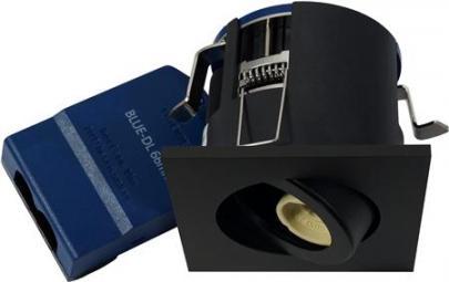 sort mat lyskilde ex 230v gu10 ø87mm downlight 66 blue-dl