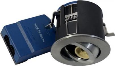 børstet lyskilde ex 230v gu10 ø87mm downlight 66 blue-dl