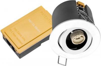 hvid sandy lyskilde ex 230v gu10 ø87mm downlight 66 net-dl