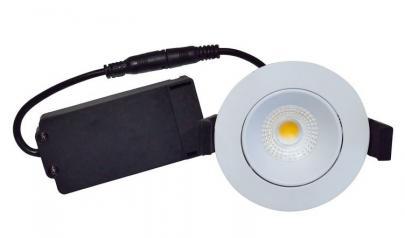 hvid mat ø85mm 95 cri lumen 310 2700k 5w led profile low velia - nordtronic