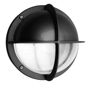 koksgrå - ip44 halvskærm m led 3000k 15w skotlampe mia