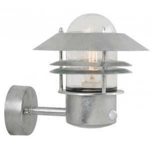 galvaniseret - sensor med væglampe blokhus nordlux