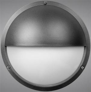 skotlampe antracit - ø265mm 1xe27 halvskærm ii ocus