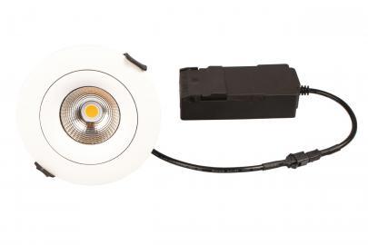 hvid mat - ø95mm lumen 440 3000k 6w led lp sabina - products scan