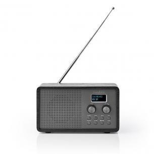 sort vækkeur w 5 4 digital batteri skærm hvid sort 3 1 fm dab borddesign radio dab