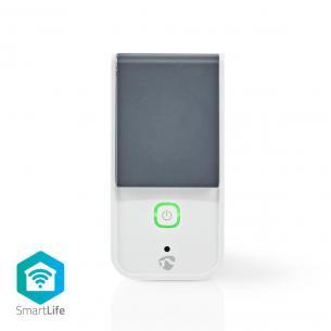hvid grå ios android c 40 - -30 7 7 cee f type stik eu w 3680 effektmåler ip44 wi-fi plug smart smartlife