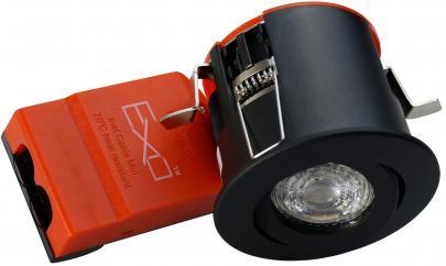 lyskilde ex sort downlight ø88mm 230v gu10 66 exo daxtor