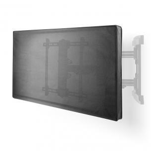 sort oxford kvalitet højeste beskyttelse 360 vandtæt lynlåse side lukning sløjfe og krog holder fjjernbetjenngs 52 - 50 skærmstørrelse cover skærm tv udendørs