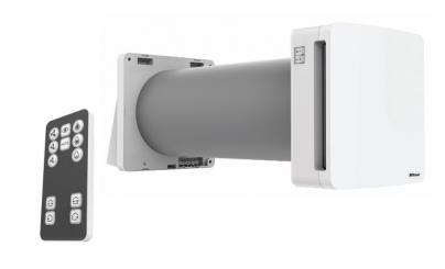 hvid remote 100 eco varmegevinding med ventilation ø100mm unoklima klimair