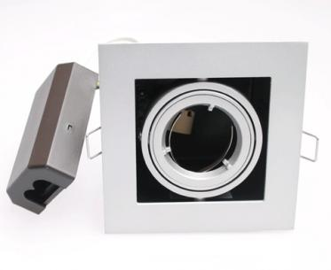 dl-221 til erstatning lyskilde ex hvid - 230v gu10 120x120mm single downlight plaza