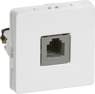 hvid konnektor rj11 polet 6 6 modul 1 t1 dataudtag fuga lk