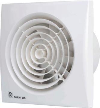 ø147mm 214x214mm timer og hygrostat med ventilator fugtstyret hvid chrz 300 silent p s