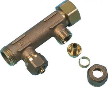4 3 - mm 15 afgreninger 3 muffe fast med fordelerrør uponor