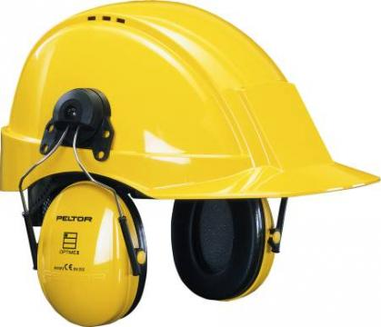 slids med hjelm for høreværn