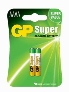 stk 2 - batteri alkaline super aaaa 25a lr8d425 gp