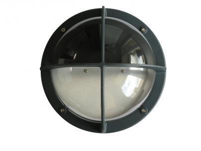 koksgrå - ip44 halvskærm m e27 skotlampe mia