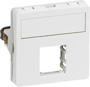 konnektor 1xrj45 f hvid modul 1 t1 dataudtag fuga lk