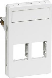 konnektor 2xrj45 f hvid modul 5 1 t3 dataudtag fuga lk