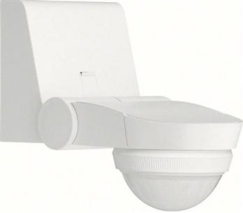 ee840 - hvid ip55 360gr udendørs bevægelsessensor hager