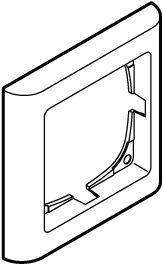 hvid antibateriel modul 1 63 ramme softline fuga