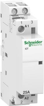 18mm bredde modulkontaktor 230vac 2no 2-polet 25a ict kontaktor schneider