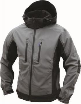 large sort mørkegrå jakke shell soft