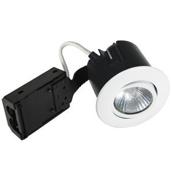 hvid mat ip44 lyskilde ex 230v gu10 ø86mm install quick - 1205 nordtronic