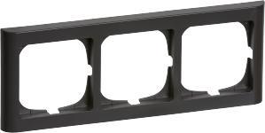 Image of   FUGA® Softline Ramme 63 3 modul vandret tripel, koksgrå