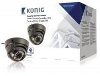 Dome Cctv Kamera 700 TVL IP66 Sort