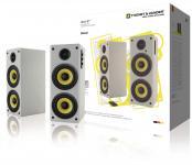 Bluetooth Højttaler 2.0 Hoch 70 W Hvid/Gul