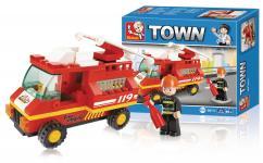 truck fire serie town byggeklodser