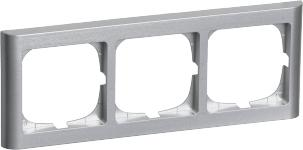 stålmetallic tripel vandret modul 3 63 ramme softline fuga