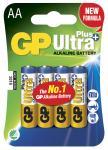 4-pak lr6 aa plus ultra gp - batteri alkaline