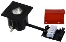 lyskilde ex sort mat gu10 230v 87x87mm 2-use easy daxtor