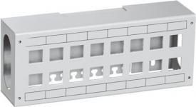 konnektorer u lysegrå 16xrj45 f patchbox lexcom