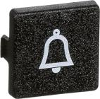 symbol klokke med sort trykplade modul mini