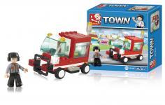 køretøj service serie town byggeklodser