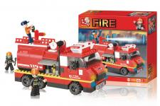 truck fire large serie fire byggeklodser