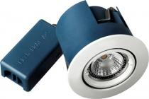 udendørs hvid lyskilde ex skruefjeder med 230v gu10 ø88mm downlight iso blue-dl