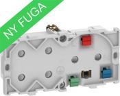 Image of   LK FUGA® Stikkontakt m/jord og 2xEuroplug udtag, 2,0 modul, lysegrå