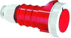 Image of CEE Forlængerled H6 400V AC 16A 4 polet, rød multigrip kabelaflastning, Quick Connect® IP67 polyamid